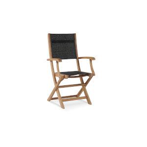 Stella Black Teak Outdoor Folding Armchair