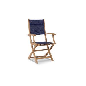 Stella Blue Teak Outdoor Folding Armchair