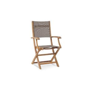 Stella Taupe Teak Outdoor Folding Armchair