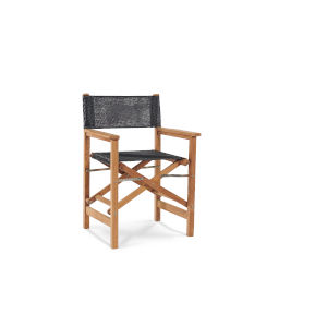 Director Black Teak Folding Outdoor Chair
