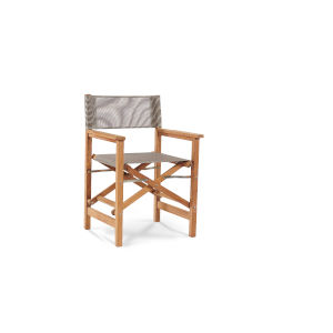 Director Taupe Teak Folding Outdoor Chair