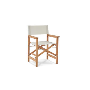 Director White Teak Folding Outdoor Chair