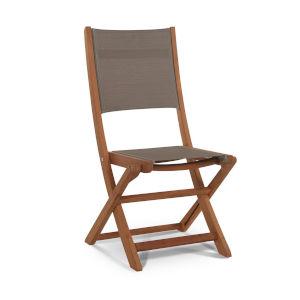Stella Taupe Teak Outdoor Folding Chair