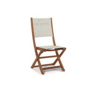 Stella White Teak Outdoor Folding Chair