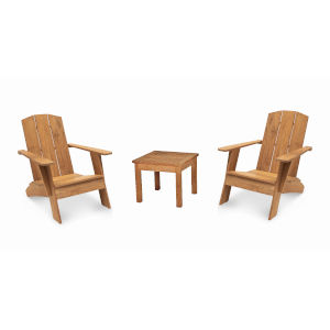 Bainbridge Natural Sand Teak  Outdoor Lounge Set