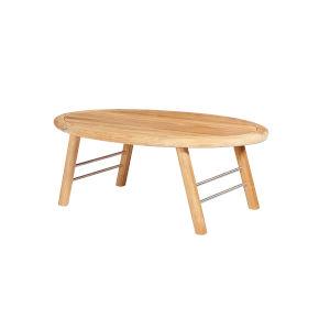 Elip Nature Sand Teak Teak Oval Outdoor Coffee Table