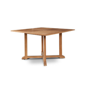Venice Nature Sand Teak Square Teak Outdoor Dining Table