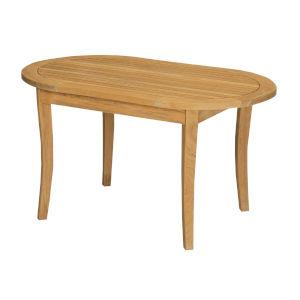 Peanut Nature Sand Teak Oval Teak Outdoor Coffee Table