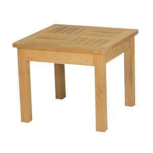 Dane Nature Sand Teak Square Teak Outdoor Side Table