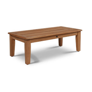 Grande Nature Sand Teak Rectangular Teak 16-Inch Height Outdoor Coffee Table