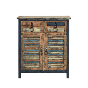 Calypso Colorful 2 Door 2 Drawer Accent Cabinet