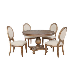 Eleanor Wire-Brushed Dining Set, 5 Piece Set
