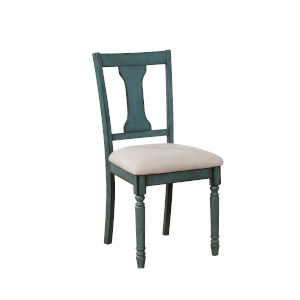 Willow Teal Blue Side Chair, Set of 2
