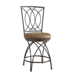 Olivia Bronze and Mocha Counter Stool