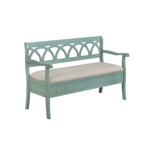 Ella Teal Storage Bench