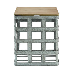 Jayce Galvanized Side Table