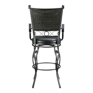 Matte Black and Grey Barstool