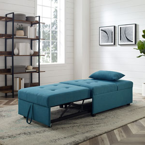Remington Teal Sofa Bed