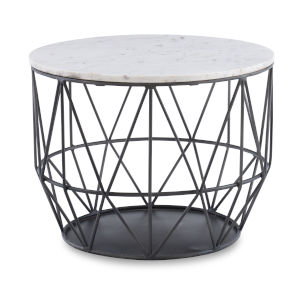 Anderson Gunmetal Wire Side Table