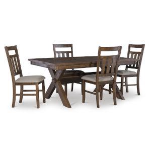 Bella Rustic Umber Dining Set, 5 Piece Set