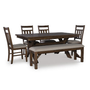 Bella Rustic Umber Dining Set, 6 Piece Set