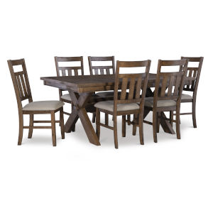Bella Rustic Umber Dining Set, 7 Piece Set