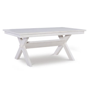 Turino Distressed White Dining Table