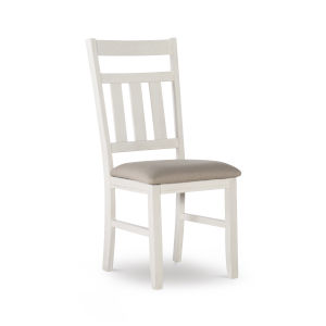 Bella Distressed White Side Chairs - Set of Two