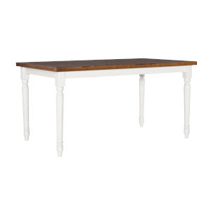 Willow White and Brown Dining Table