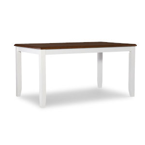 Jane White and Brown Dining Table
