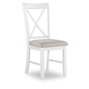 Jane Vanilla White Side Chairs - Set of Two
