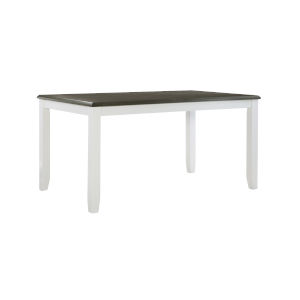 Jane White and Dark Grey Dining Table