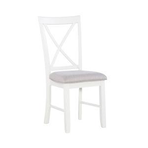 Jane Smokey White Side Chair - Set of Two