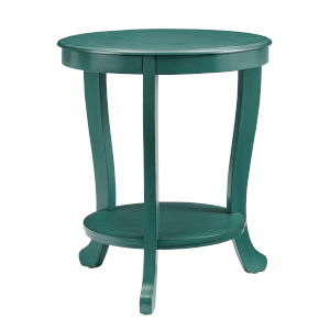 Aubert Teal Blue Side Table