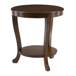 Aubert Hazelnut Brown Side Table