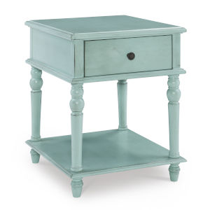 Mcghie Teal Blue Side Table