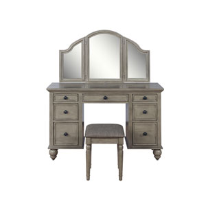 Pattan Taupe Vanity and Bench with Mirror