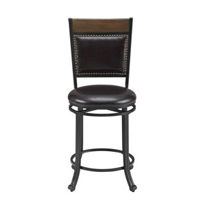 Franklin Rustic Umber Swivel Counter Stool