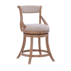 Luna Natural and Beige Counter Stool