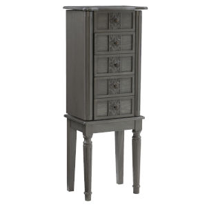 Cairo Gray Jewelry Armoire