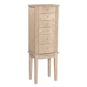 Eliel Natural Jewelry Armoire