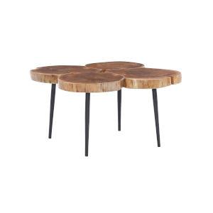 Aurelio Brown and Black Live Edge Small Coffee Table
