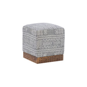 Dallas Gray Ottoman