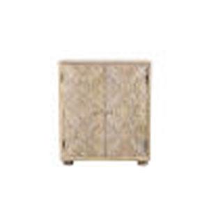 Aziel Natural Two-Door Cabinet