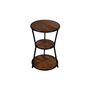 Grant Brown and Black Three Tier Side Table