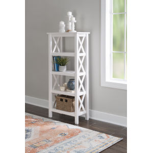 Davis Antique White Bookcase
