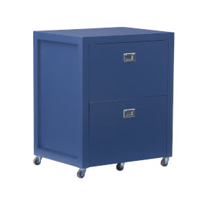 Peggy Navy Silver File Cabinet