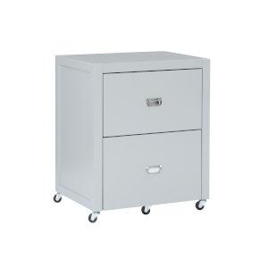 Max Gray Silver File Cabinet