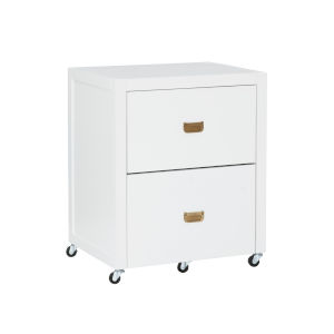 Peggy White Gold File Cabinet