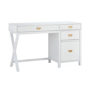 Max White Gold Desk